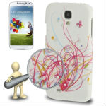 Butterful Flower Pattern Diamond Encrusted Plastic Case for Samsung Galaxy S IV / i9500