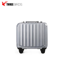 PC ABS tsa lock aluminum handle sliver rolling wheels trolley parts eminent cabin laptop school business travel luggage suitcase