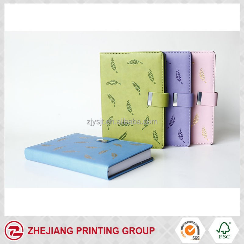 2017 personalized leather bound stationery diary with magnet lock