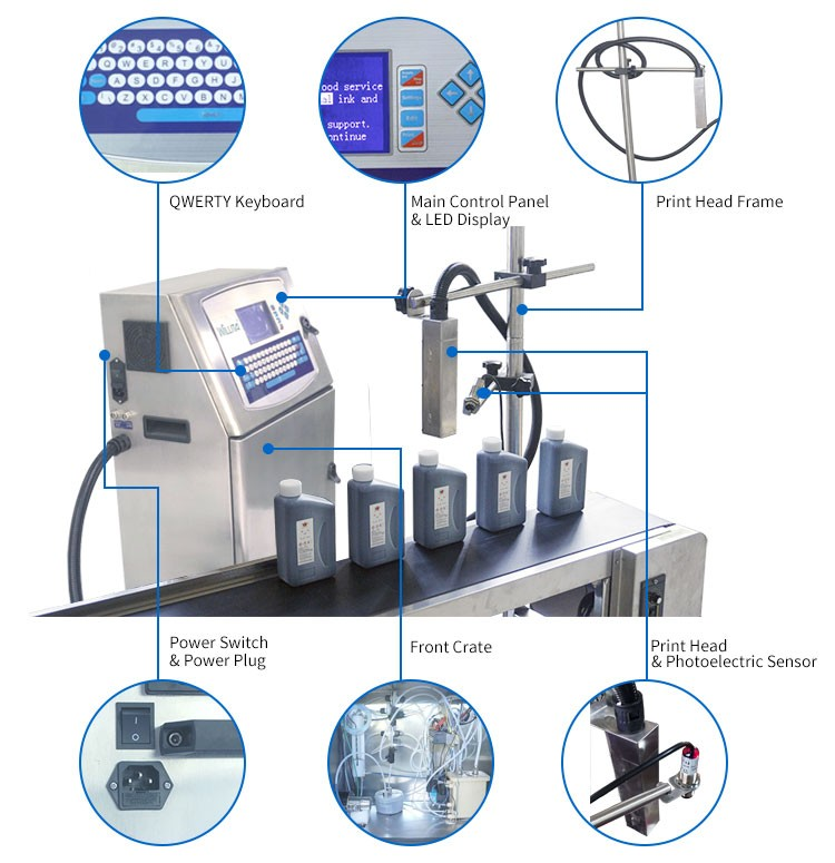 Plastic Bottle Batch Expiry Date Full Automatic Expiry Printing Machine