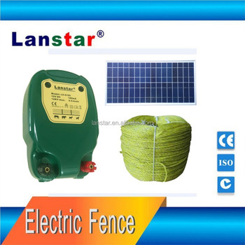 Solar power battery charge livestock fence energizer/charger, farm fencing equipment for animal management