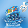 6PC Blue-Bubble Flush Block Toilet Bowl Cleaner/Fragrance Blue Block Solid Auto Toilet Cleaner