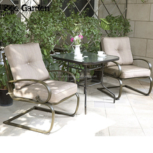 Quality life Die cast iron outdoor patio furniture Rose 3 Piece bistro set
