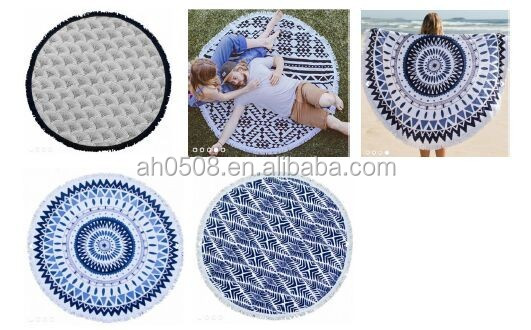 specialize round beach towel with Tassels for beach country