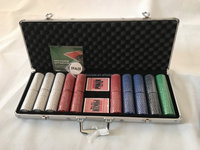 aluminum alloy 500 poker chip set