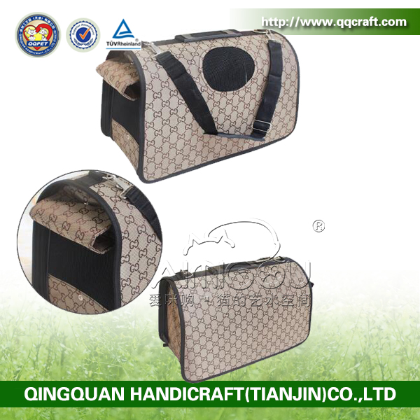 BSCI QingQ Factory small cute dog cat carrier bag dog unique animal carriers for bike