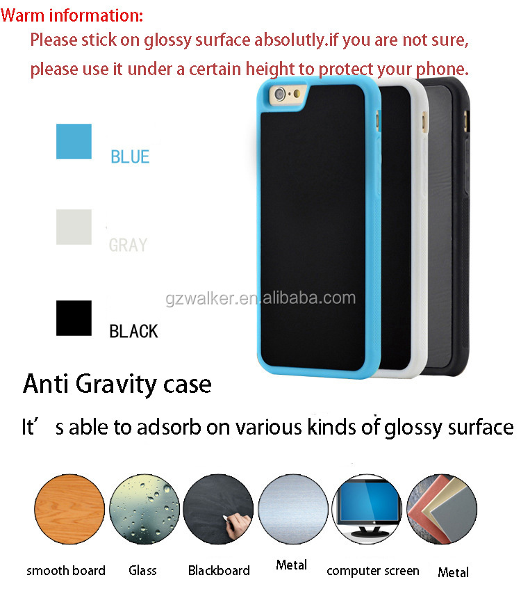 Wholesale Price Creative Design Anti Gravity Case Hands-Free Adsorption Phone Case For Phone iphone 5 SE 5s 6