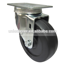 Swivel 4 inch cabinet sliding door roller caster wheels sample type cheap casters and wheels plate type castor