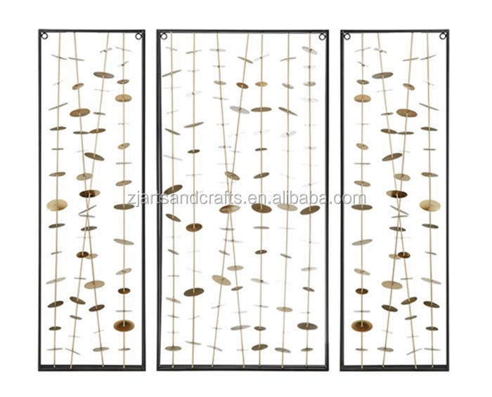 New design gold Clement Metal Wall Decor Set of 3