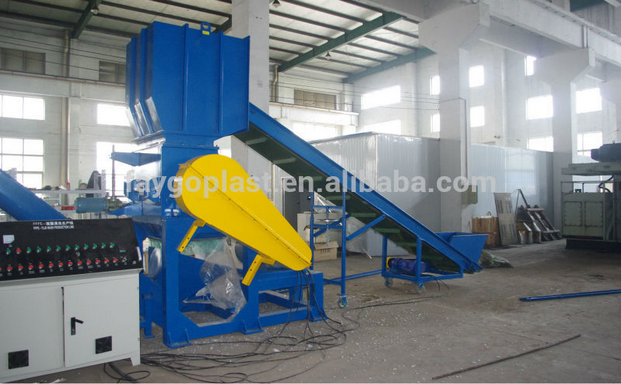 full automatic used plastic recycling machine pp pe pet recycling line