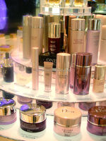 cosmetic stand or showcase with light,skin lightening cream display