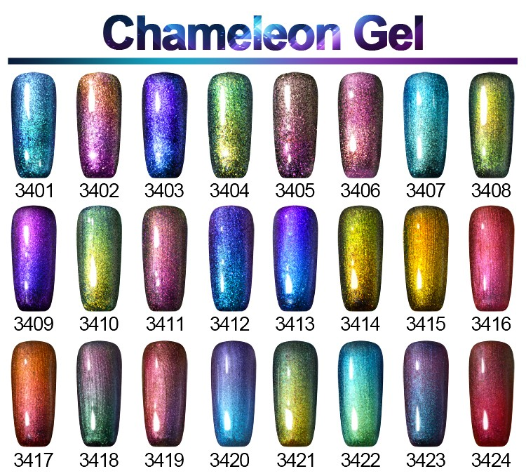 2017 GelArtist Nail Gel Newest Chameleon Colors uv Gel Nail Polish