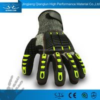 QL Nitrile palm coated heavy duty rigger vibration reducing gloves