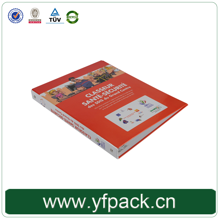 Customize Wholesale Hardcover Printing Imange 4 Rings Metal Binder/Folder Office Stationery Made In China