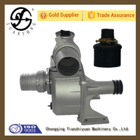 Juanyong brand belt and pulley driven pump self priming drag pump