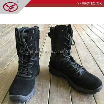 tactical breathable boots with Quick release zipper