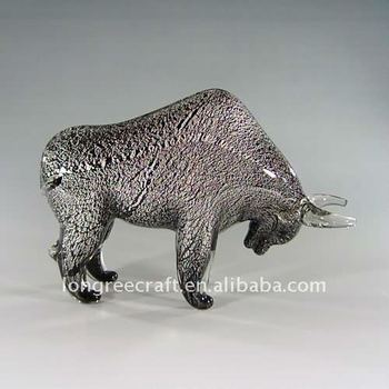 Modern Rhinoceros Great Glass Ornaments
