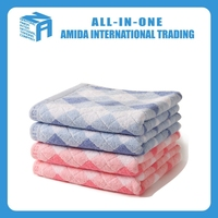 cheap promotional wholesale colorful pattern cotton face towel