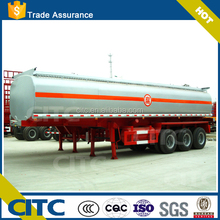 3Axle HCL tank plastic- lined steel chemical liquid tank semi trailer for NaCIO H2SO4