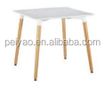 Modern Simple Design White MDF Square Dinning Table