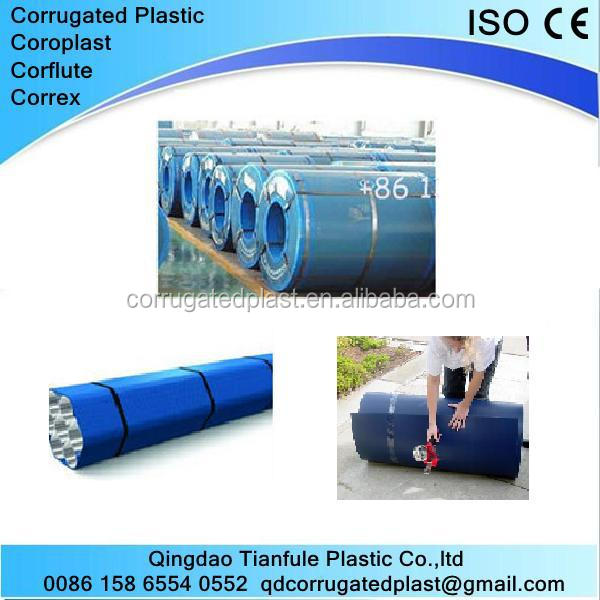 Plastic Corrugated Polypropylene Sheet in Rolls
