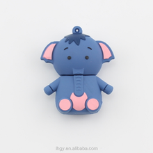Retail genuine capacity 4gb 8gb 16gb 32gb cartoon cute elephant usb flash drive 2.0 pen drive memory stick card pendrive