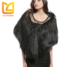 2017 2018 Winter long faux us woman queen fur raccoon cape