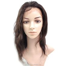 9A Brazilian virgin natural wave human hair wig with baby hair