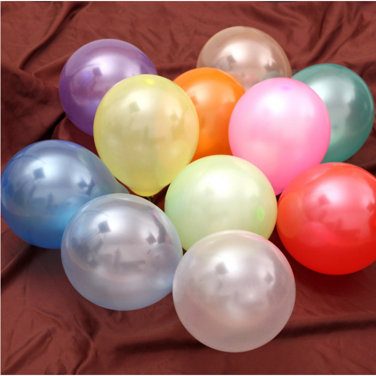 Assorted color latex balloon 10 inch for wedding decoration party pearl balloon
