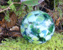 Mercury Finish Handblown Glass Gazing Ball