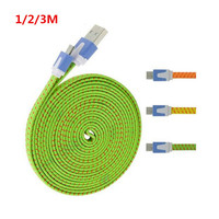 2016 new model fabric textile micro usb cable