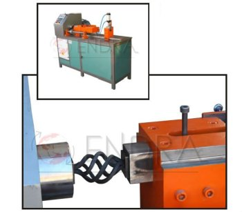 AUTOMATIC TWISTING, BASKET AND RING MAKING MACHINE WITH PLC CONTROL