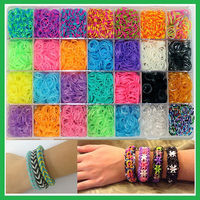 EN71 proved crazy latex free DIY cheap loom rubber bands kit,colorful loom bands