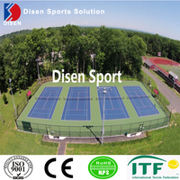 Outdoor full PU tennis court made in China acrylic acid synthetic tennis sport flooring for sale