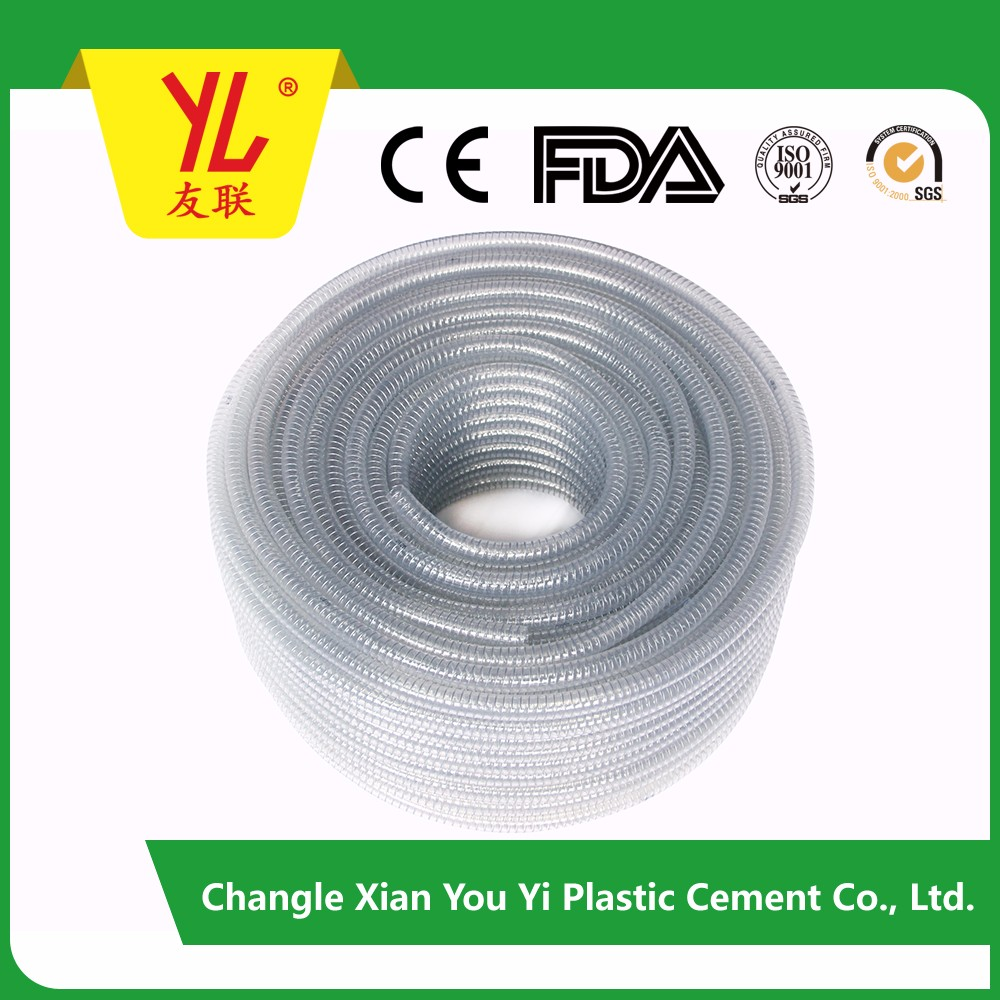 pvc flexible reinforced helix hose tube from China manufacture