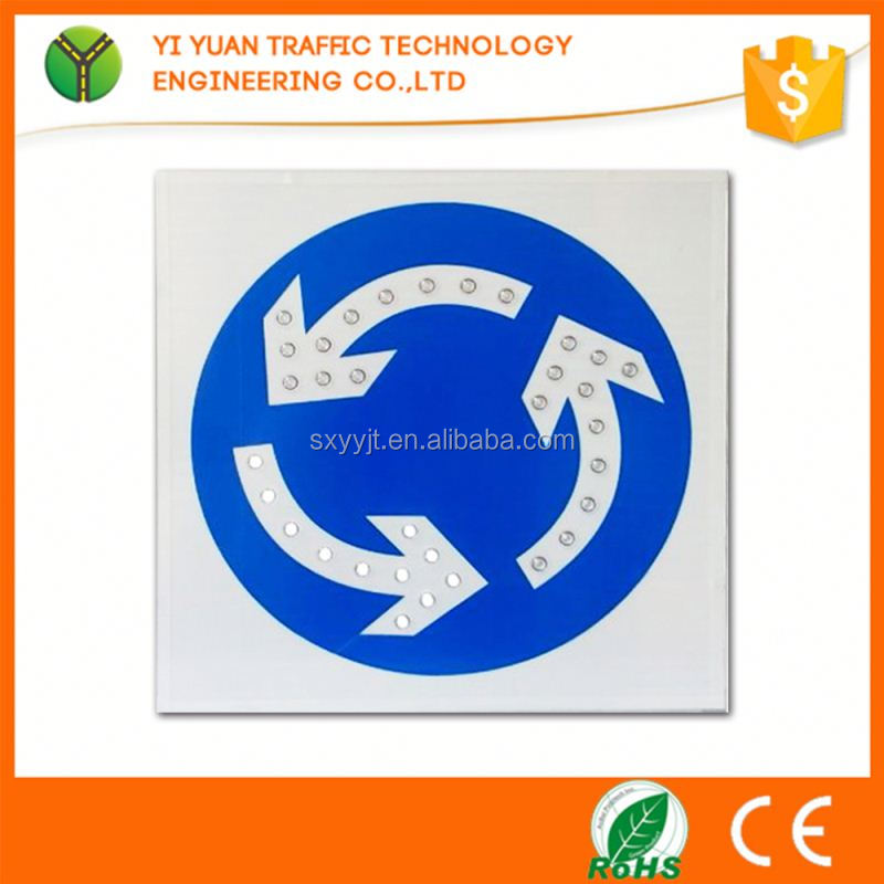 Road driving directions reflective flashing solar led us highway signs