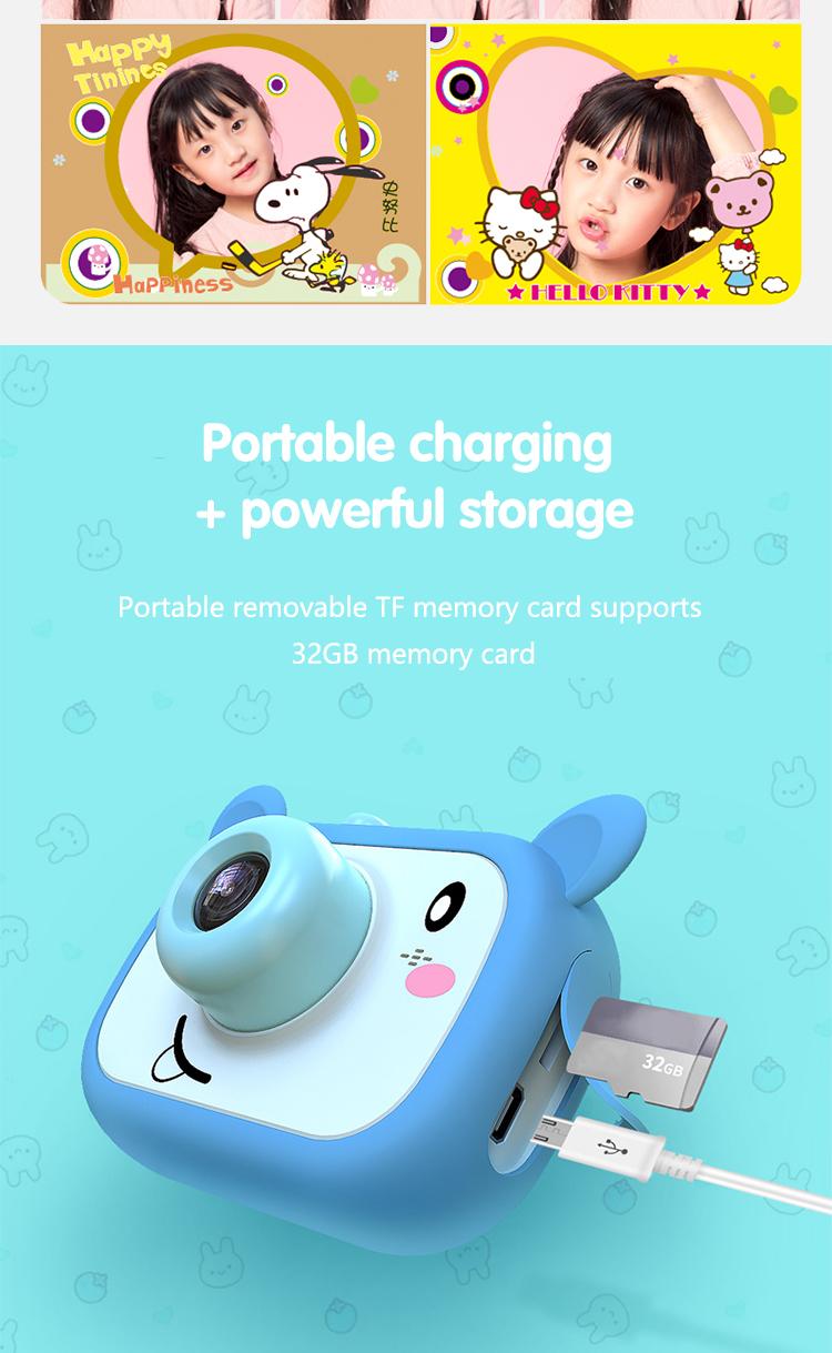 Kids Children Digital Camera Cute Carton Portable Charging Photos Camera 8MP 1080P Full HD Mini Photographer for Children
