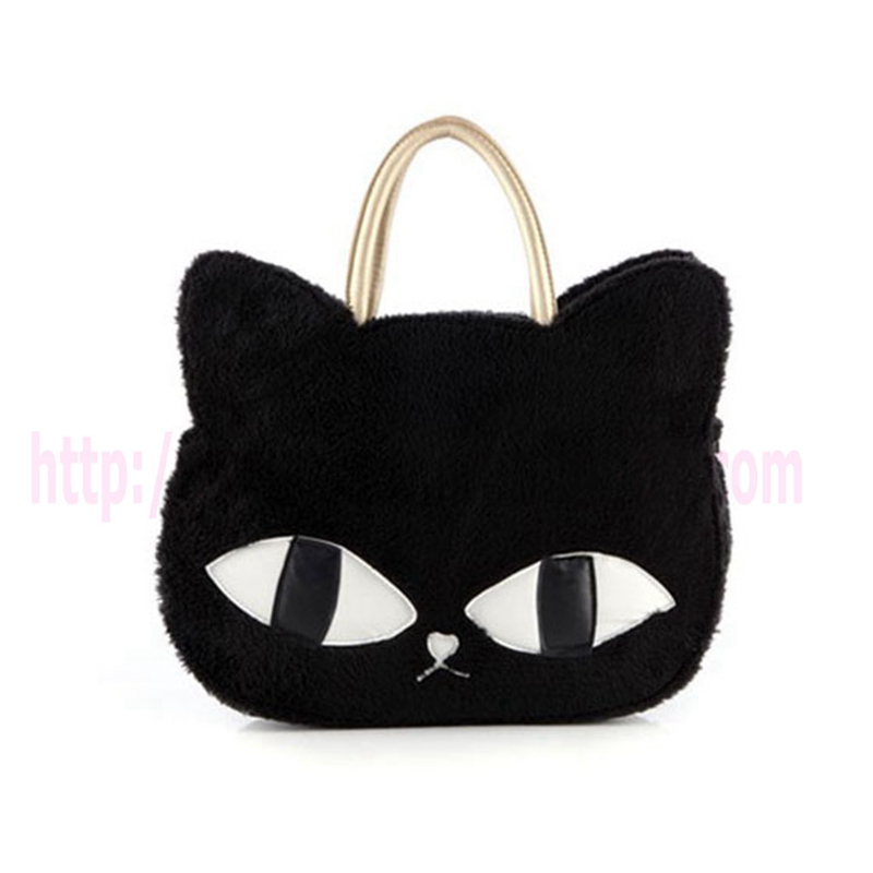 Cute Cats Plush 3 Colors new fashion woman handbag