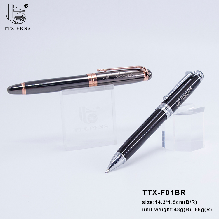 2019 New design gift roller ball pen for wedding metal pen rose gold plating