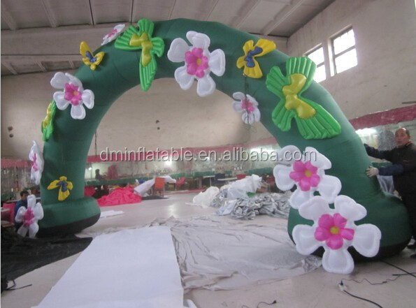 Wedding inflatable arch with flowers for sale