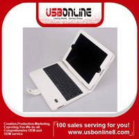 For new ipad bluetooth keyboard with leather case in white color