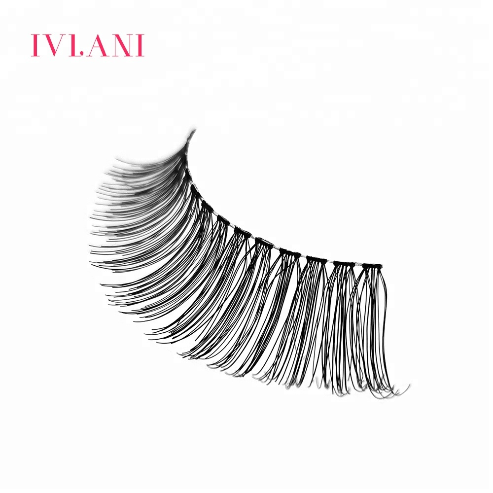 Luxuriously lightweight wholesale natural false human hair eyelashes