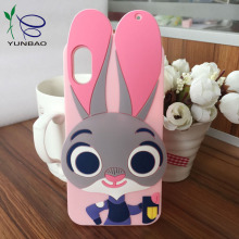 2017 Chinese factory custom cartoon animal silicone phone case for iphone 6s