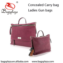 New arrived suede leather tote carry bag gun wine CCW concealed carry purse and handbag