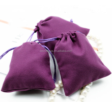 Good Quality Suede Velvet Drawstring Bag for Jewelrys Watches