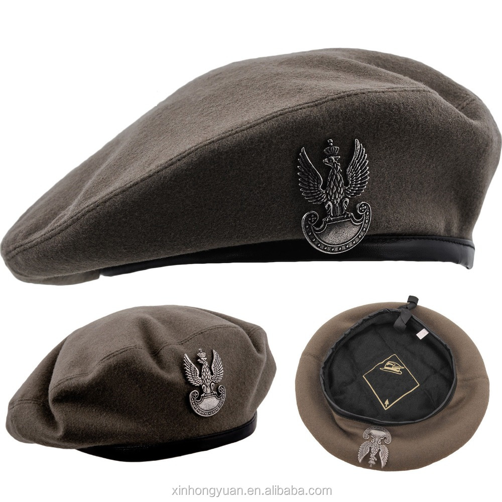 wool felt army military beret cap/hat for men