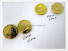 Embossed custom logo Plastic Gold token coin