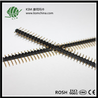 Pitch 1.27/2.00/2.54mm V/T type single row pin header male 40pin PCB/Adapter connector