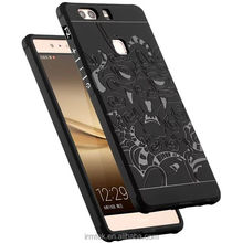 Ultrathin Blade <strong>Point</strong> Series For HuaweiP9+ Embossed Cover Case Relief Mobile Phone Case Cover