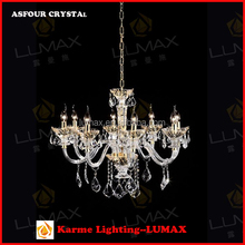 Lumax European luxury crystal ceiling light with classic design for home